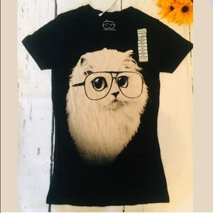 GOODIE TWO SLEEVES  SMALL cat kitty glasses (m)
